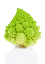 Rare broccoli romanesco broccoli cabbage isolated white background Royalty Free Stock Photos