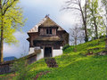 A rare church in Lestiny, Orava, Slovakia Royalty Free Stock Photo