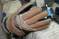 Rare and difficult profession cosmonaut spacesuit glove for good protection of human in space Stock Photography