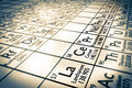 Rare earth chemical elements focus Royalty Free Stock Photo