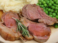 Rare Lamb Cutlets Stock Photo