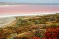 Rare phenomena - landscape of salt Kuyalnicky liman (lake) with Stock Images