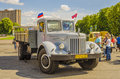 Rare soviet russian cargo truck brand gaz car fire vms Stock Photography