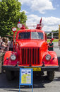 Rare soviet russian fire truck brand vms car Royalty Free Stock Photos