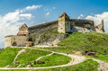 Rasnov citadel is a historic monument and landmark in romania the medieval of today is considered to be built between and Stock Photo