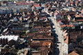 Rasnov city seen from the top of the hill Stock Photography