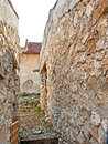 Rasnov fortress interior view of the of the citadel Royalty Free Stock Image