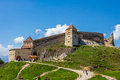 Rasnov fortress view from brasov county romania Royalty Free Stock Photo