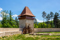Rasnov fortress view from interior of brasov county romania Royalty Free Stock Images