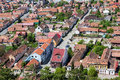 Rasnov village aerial view of brasov county romania Royalty Free Stock Images
