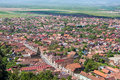 Rasnov village aerial view of brasov county romania Stock Image