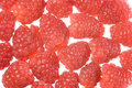 Raspberries background Stock Photo