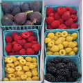 Raspberries, Blackberries, and Figs, California Royalty Free Stock Photos