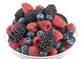 Raspberries, blueberries and blackberries Royalty Free Stock Image