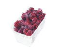 Image : Raspberries in a box watercolor painting isolated on white background cup woman solid