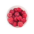 Raspberries cup isolated on white background Royalty Free Stock Images