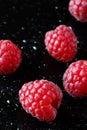 Raspberries & x28;macro shot& x29; Royalty Free Stock Photo