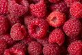 Raspberry background red for a Royalty Free Stock Photography