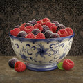 Raspberry Bowl Royalty Free Stock Photography