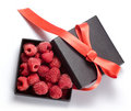 Raspberry box Royalty Free Stock Photography