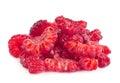 Raspberry fruit piece isolated on white background Stock Image