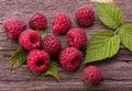 Raspberry fruit on wood Royalty Free Stock Photo