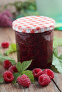 Raspberry jam Stock Photography