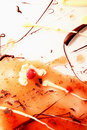 Raspberry jam and sweet choc background splashed on white for food magazines Stock Image