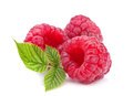 Raspberry with leaf Royalty Free Stock Photo