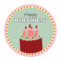 Raspberry lime icing cake red candles happy birthday text vector illustrator Stock Photo