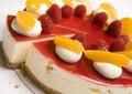 Raspberry & Mandarin cheesecake Royalty Free Stock Photography