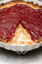Raspberry pie closeup of shot of a Royalty Free Stock Photo