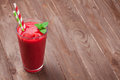 Raspberry smoothie with berries Royalty Free Stock Photo