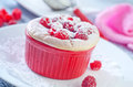 Raspberry souffle in the bowl Royalty Free Stock Image