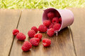 Raspberry spread on the table juicy red a wooden surface Royalty Free Stock Image