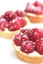 Raspberry tarts Stock Images