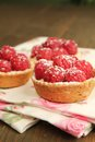 Raspberry tarts Stock Photos