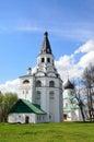 Raspyatskaya church bell tower in aleksandrovskaya sloboda vladimir region golden ring of russia and troitsky cathedral Royalty Free Stock Photo