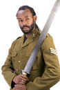 Rasta Army black man Royalty Free Stock Photo