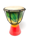 Rasta drum on the isolated background Stock Photo