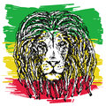 Rasta lion vector