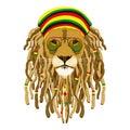 Rasta lion Royalty Free Stock Photo