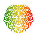 Rasta lion vector Royalty Free Stock Photo