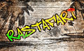 Rastafari graffiti an illustration of a with the text Royalty Free Stock Photo