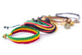 Rastafarian bracelet bracelets are usually worn by to express themselves Royalty Free Stock Photography