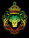 Rastafarian lion judah graphic reggae colors Stock Photography