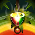Rastafarian worldwide pipe vector illustration for your design eps Stock Image
