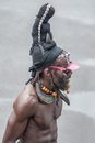 Rastaman basseterre st kitts february th a male dark skinned rastafari stands at a square and preaches to passersby with naked Stock Photo