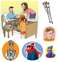 Raster illustrations about healthcare and medicine Royalty Free Stock Photos