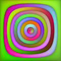 Raster Multicolor Green Pink Shades Gradient Concentric Circles Abstract Background Royalty Free Stock Photo